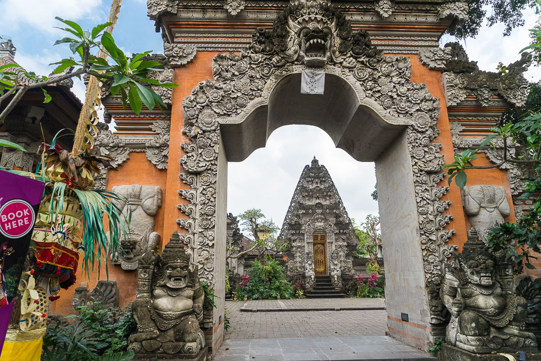 Ubud Temple Through Doorway
