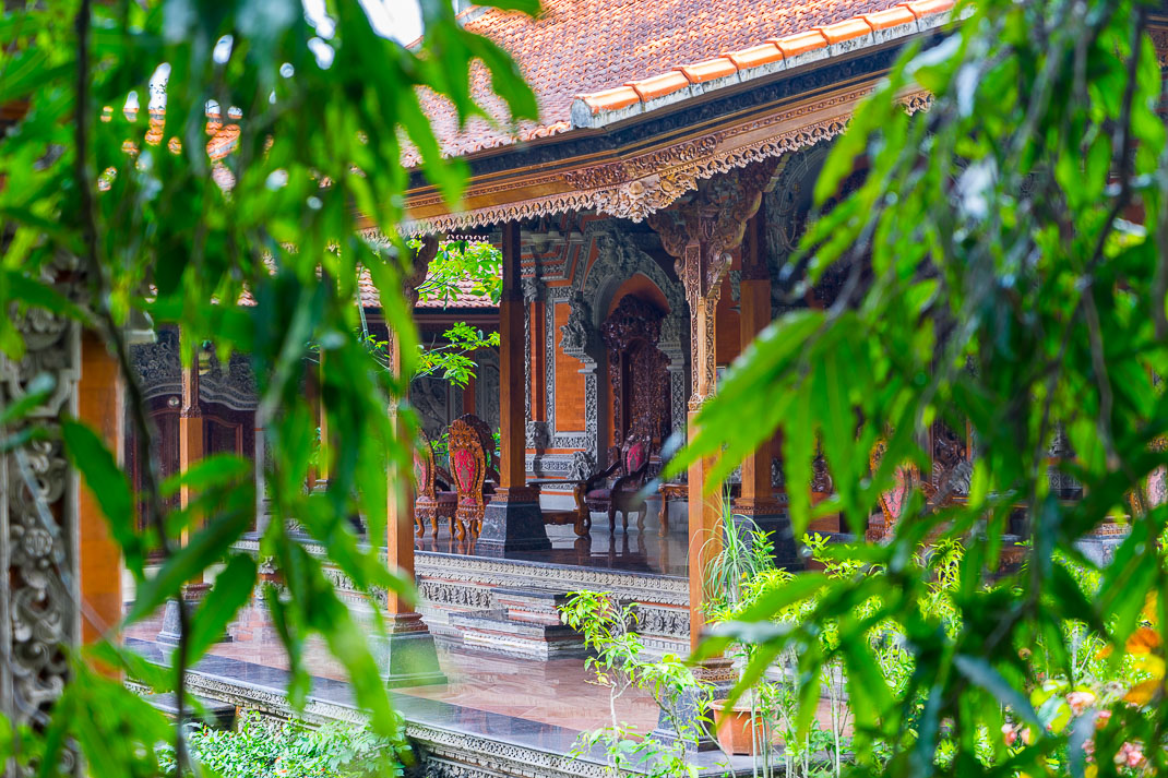 Ubud Temple Through Trees
