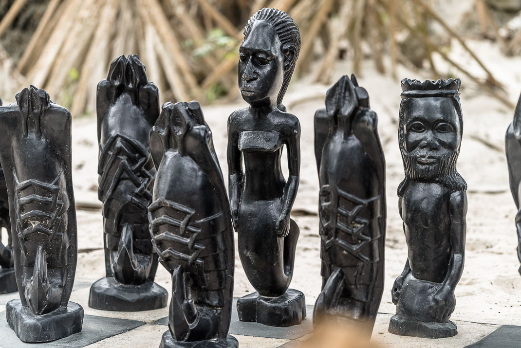 Zanzibar Matemwe chess pieces