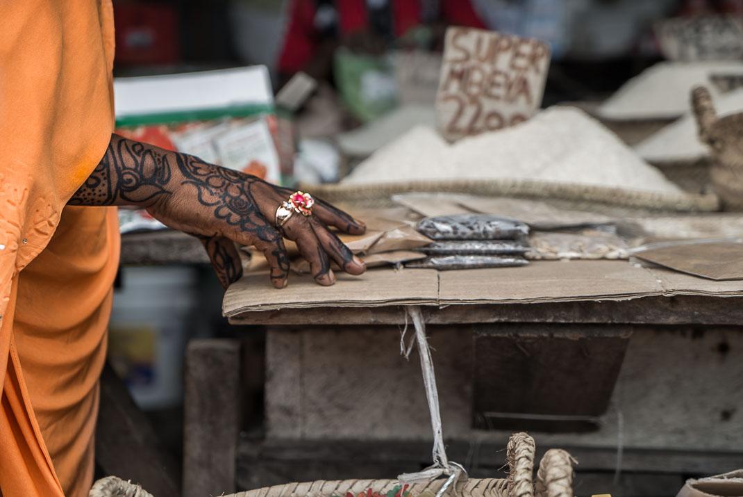 Stone Town market henna