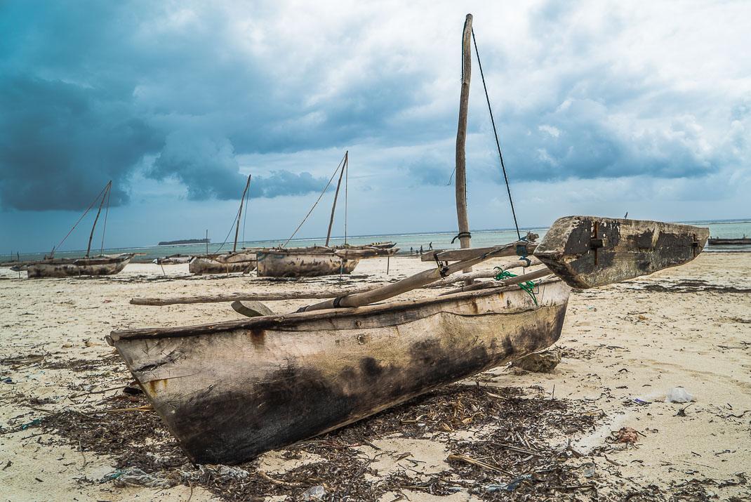 Zanzibar Matemwe beached dhow
