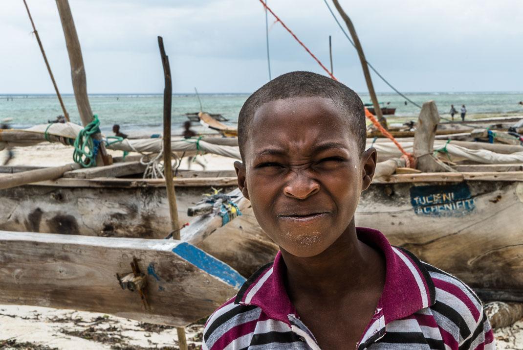 Zanzibar Matemwe squinting child