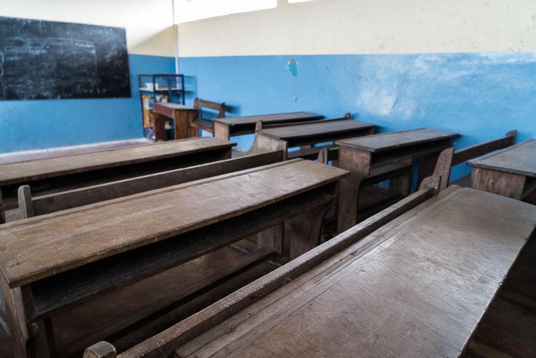 Zanzibar Matemwe school interior