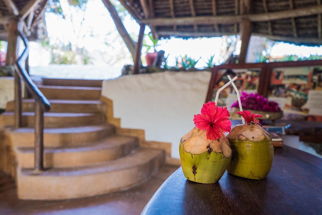 Zanzibar Matemwe Welcome Coconuts