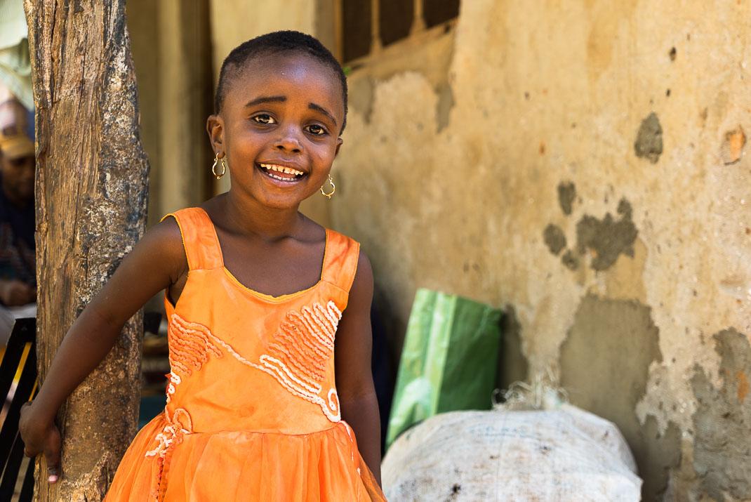 Zanzibar spice farm child