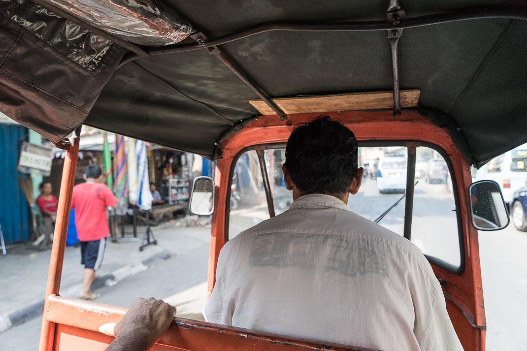 Jakarta Riding Rickshaw Interior