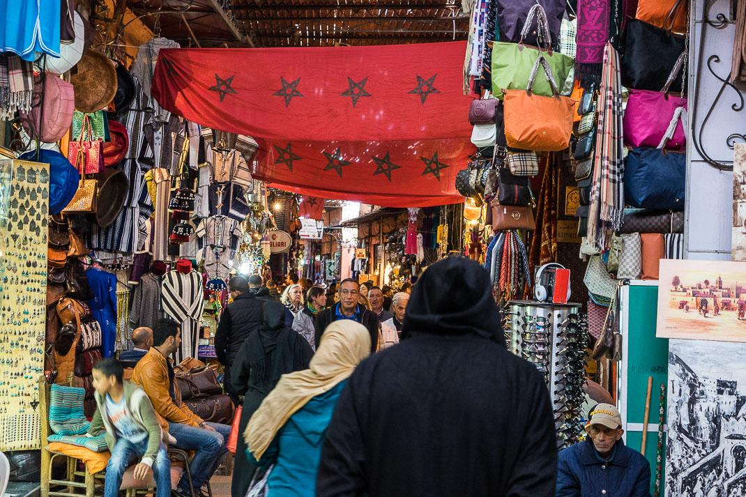 Marrakech Crowded Souks