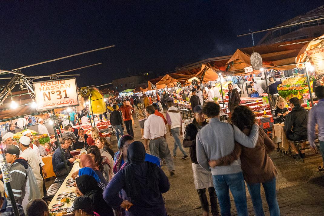 Marrakech Market Food Stalls