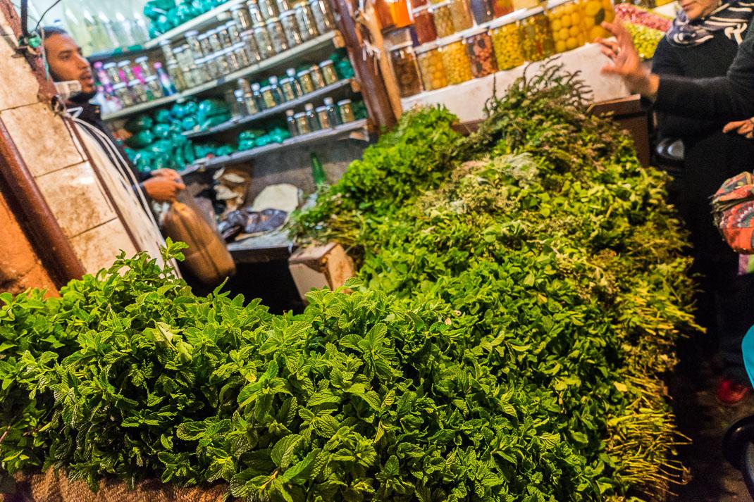 Marrakech Market Herb Stall
