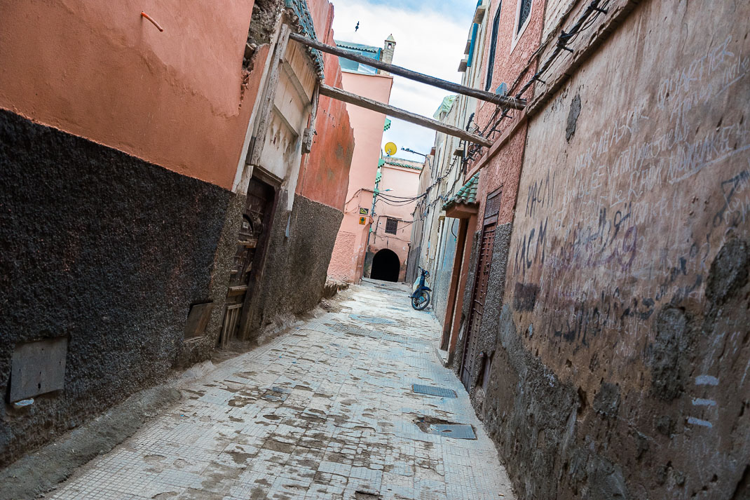 Alleyway Behind Marrakech Souks