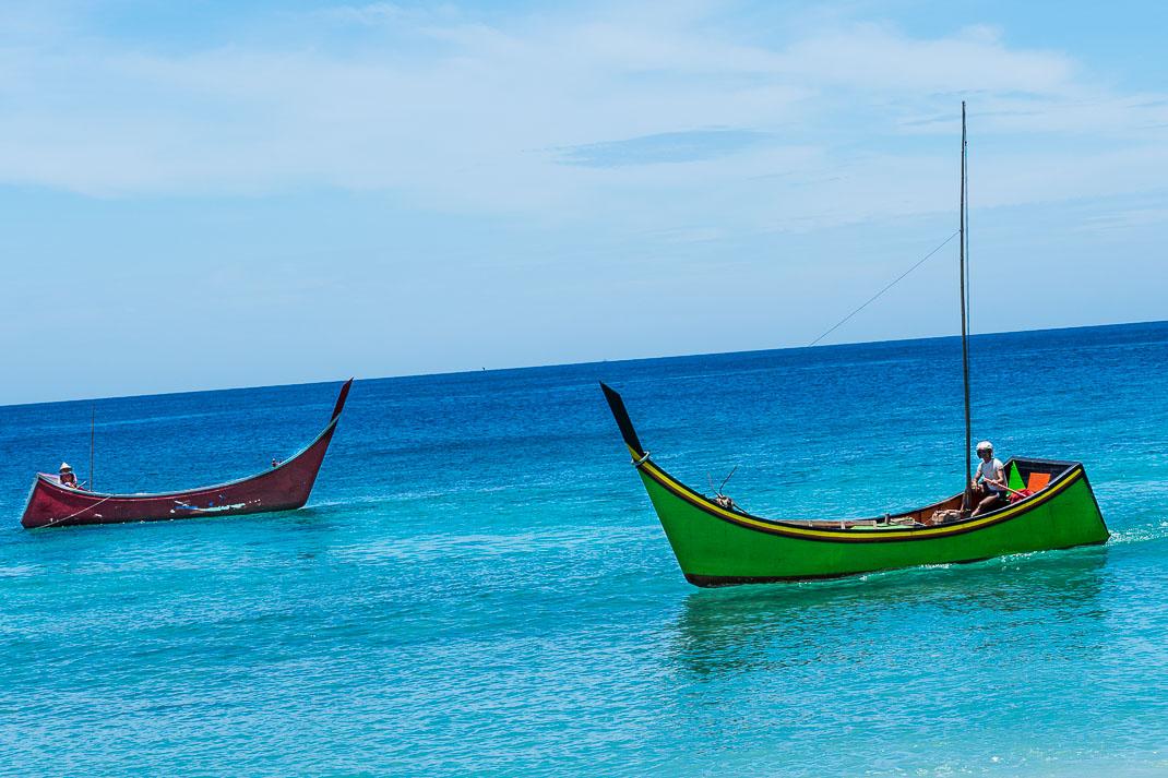Sabang Beach Fisherman Boats