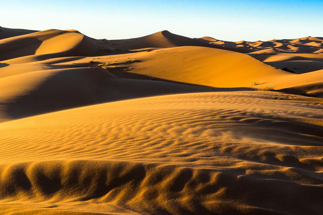 Sahara Colorful Dunes Sunset