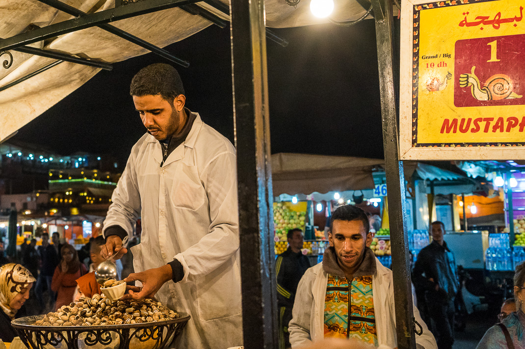 Marrakech Food Snail Stall