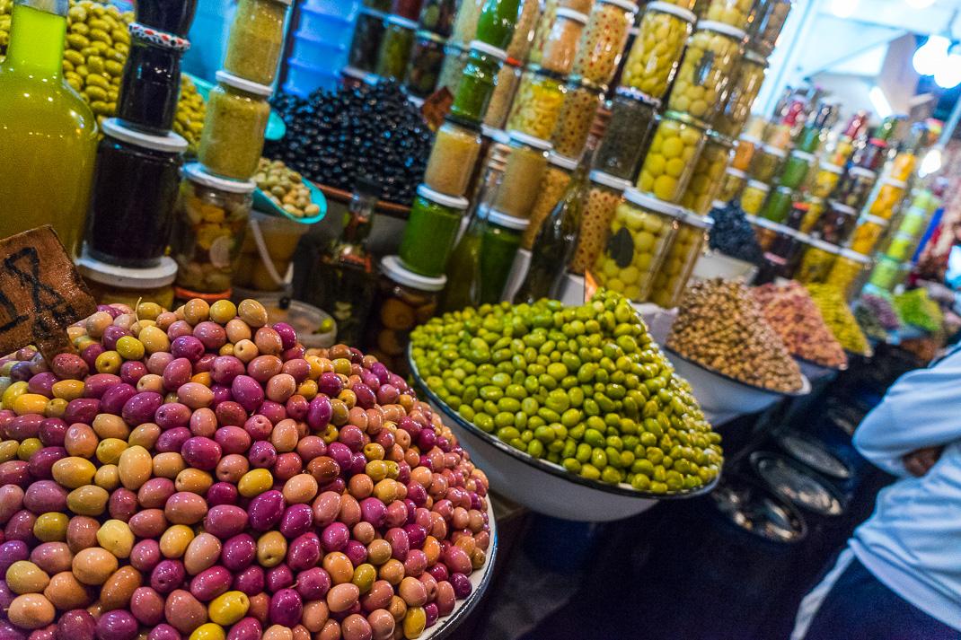 Marrakech Markets Olive Lineup