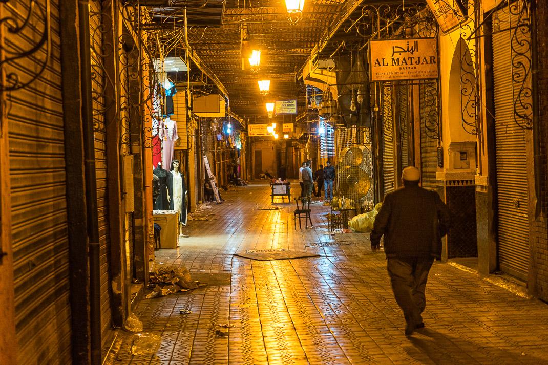 Marrakech Markets Empty Night