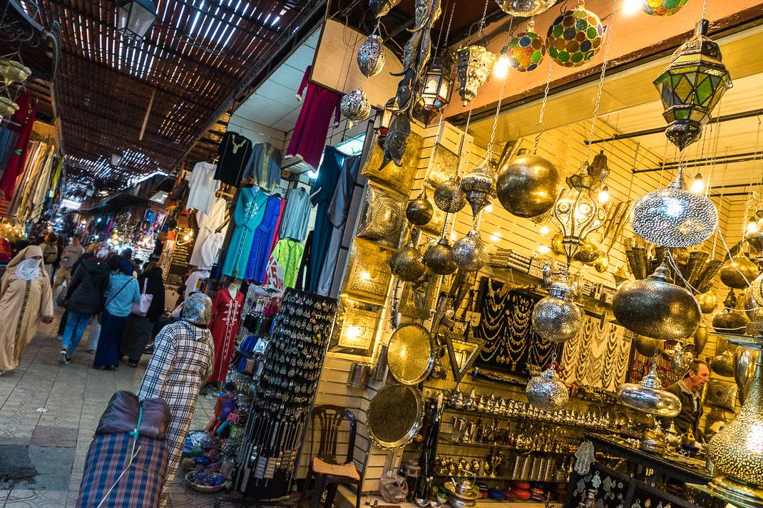Marrakech Markets Lantern Walkway