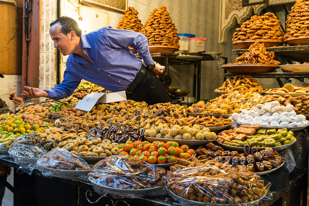 Marrakech Markets Pastry Stall