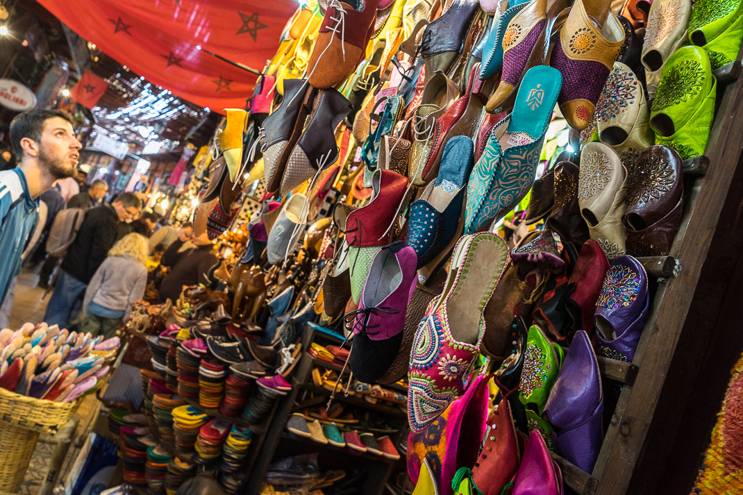 Marrakech Markets Shoe Shop