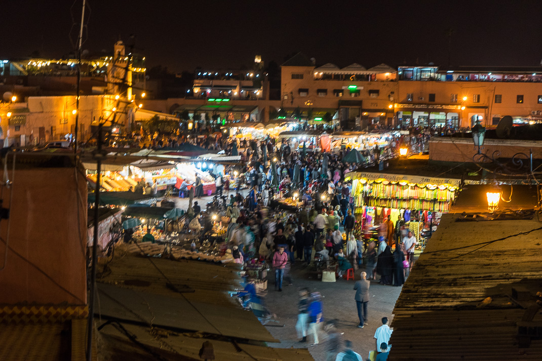 Marrakech Food Square Night