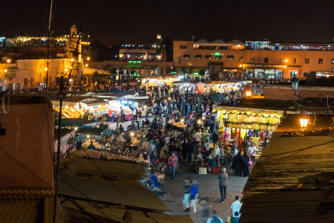 Marrakech Food Square Night