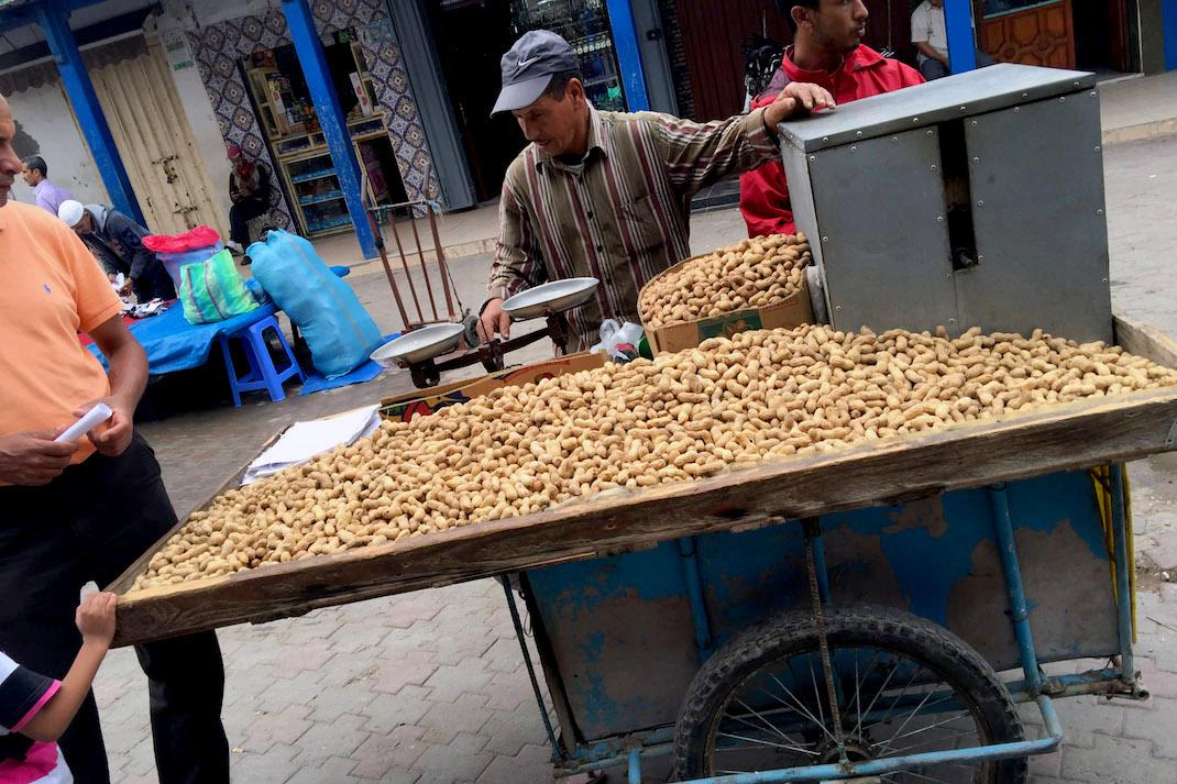 Safi Market Peanut Vendor