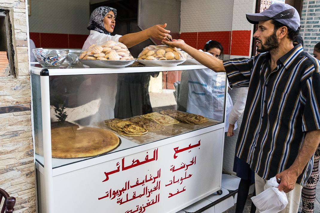 Tangier Medina Bread Cart