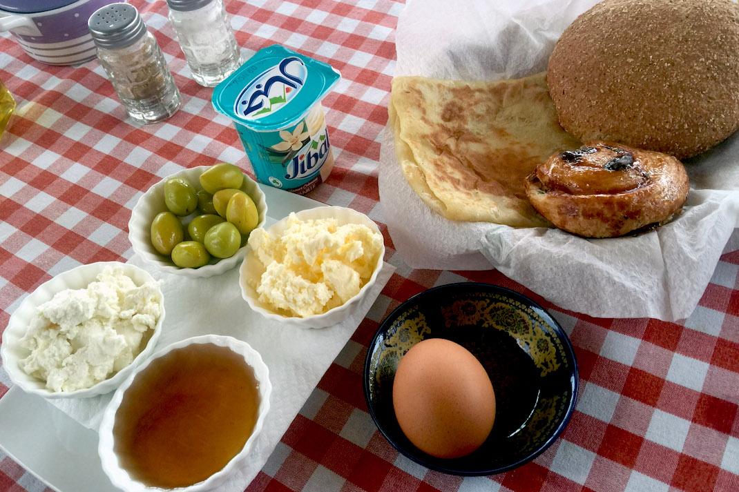 Tangier Medina Breakfast Spread