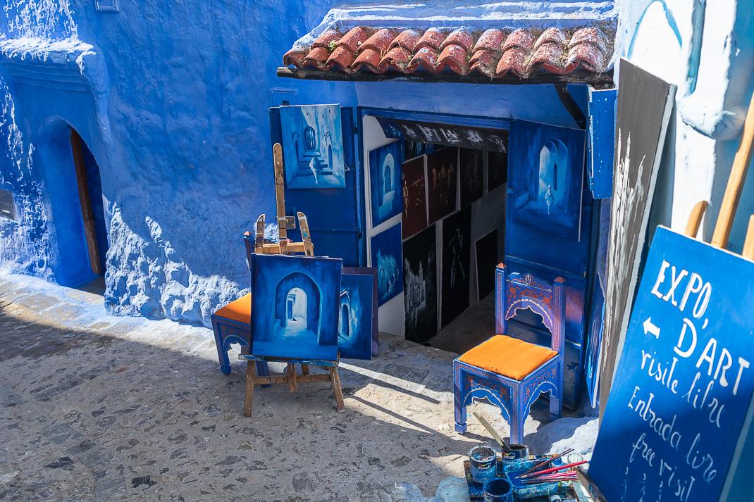 Chefchaouen Blue Art Studio