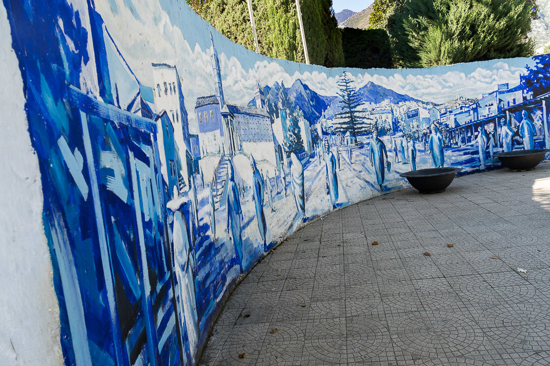 Chefchaouen Curved Blue Mural