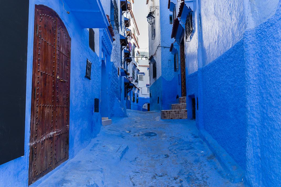 Chefchaouen Tall Blue Buildings