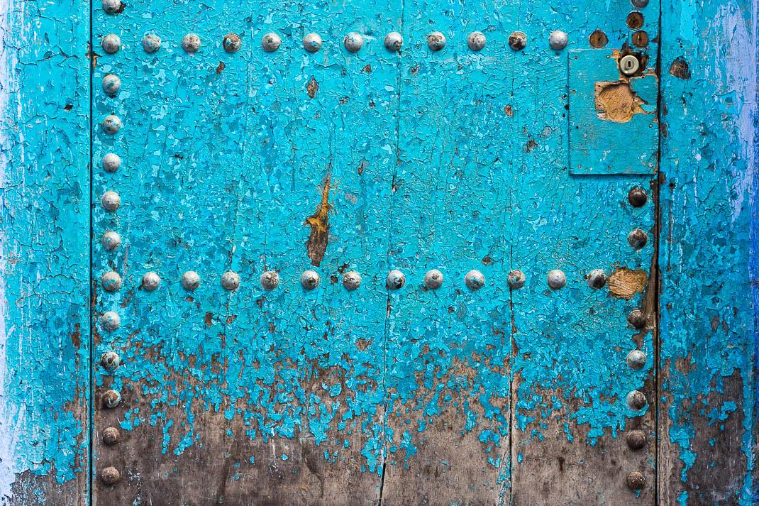 Chefchaouen Blue Chipped Door