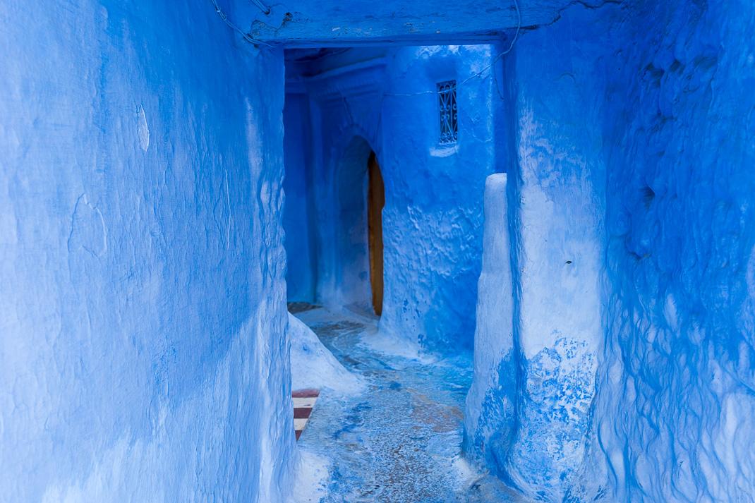 Chefchaouen Deep Blue Alleyway