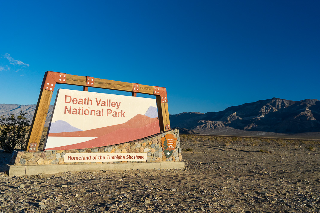DeathValley Park Entrance Sign