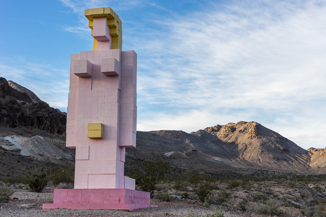 Rhyolite Ghost Town Block Woman