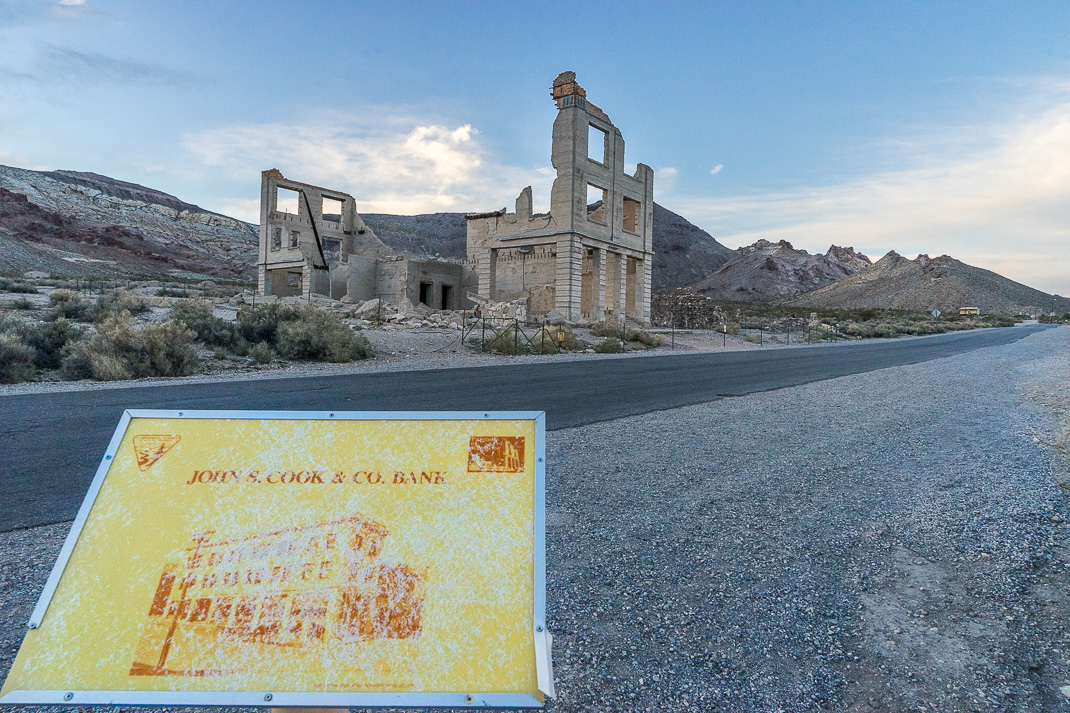 Rhyolite Ghost Town Bank