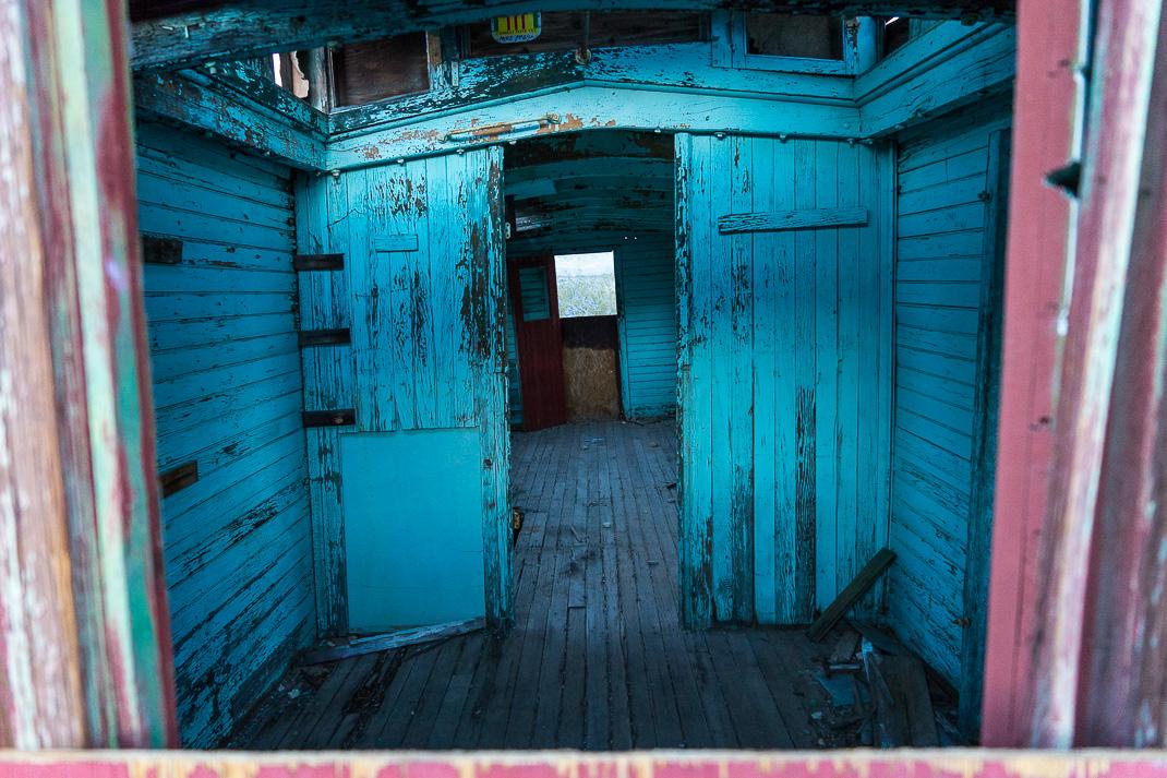 Rhyolite Ghost Town Caboose Interior