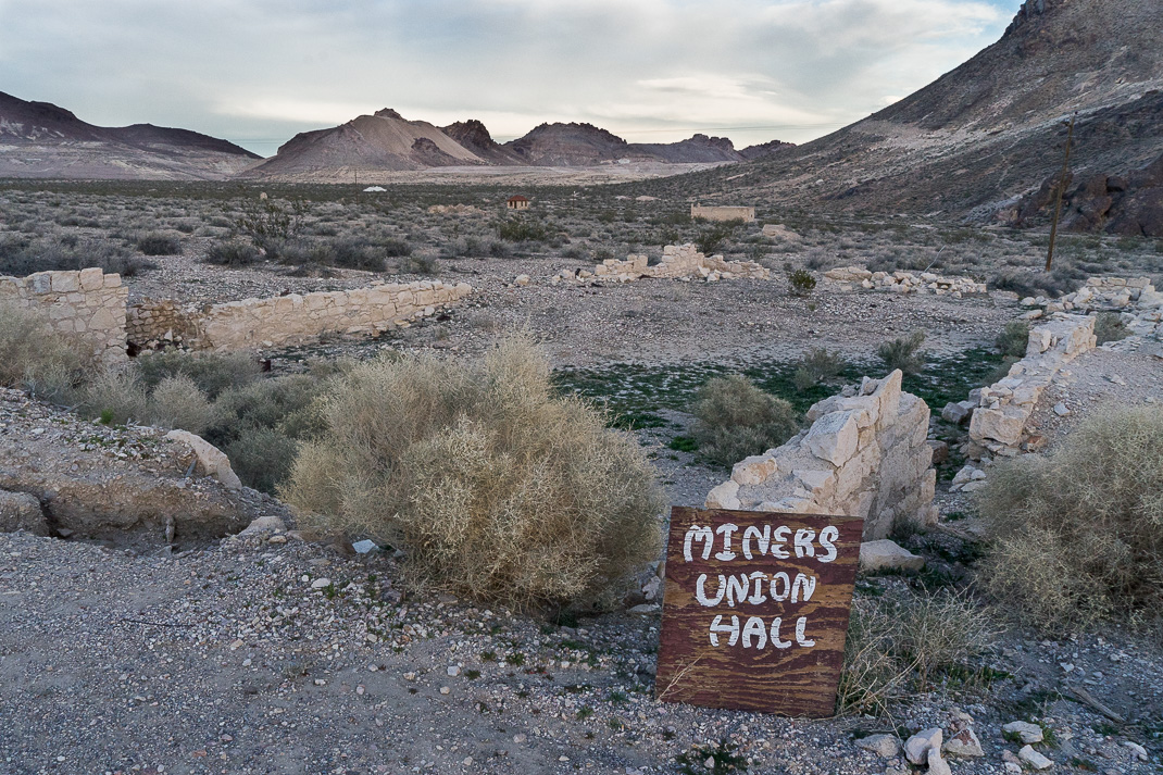 Rhyolite Ghost Town Miners Hall