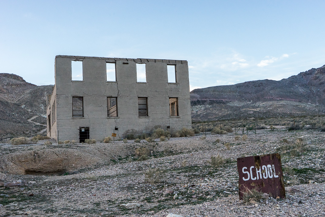 Rhyolite Ghost Town School