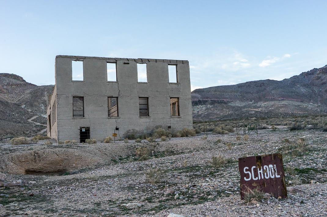 Rhyolite Ghost Town School