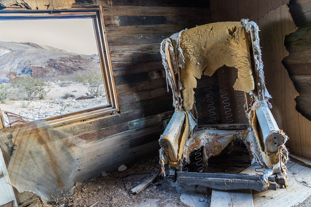 Rhyolite Ghost Town Shed Interior
