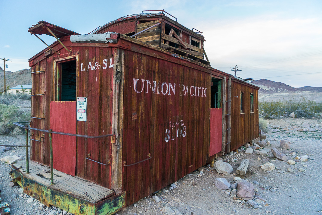 Rhyolite Ghost Town Caboose