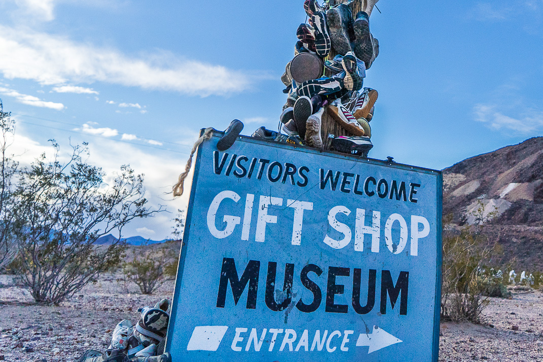 Rhyolite Ghost Town Welcome