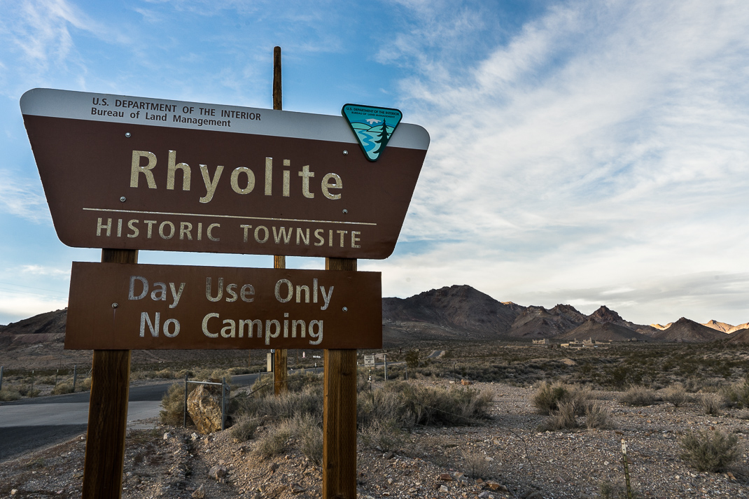 Rhyolite Ghost Town Sign