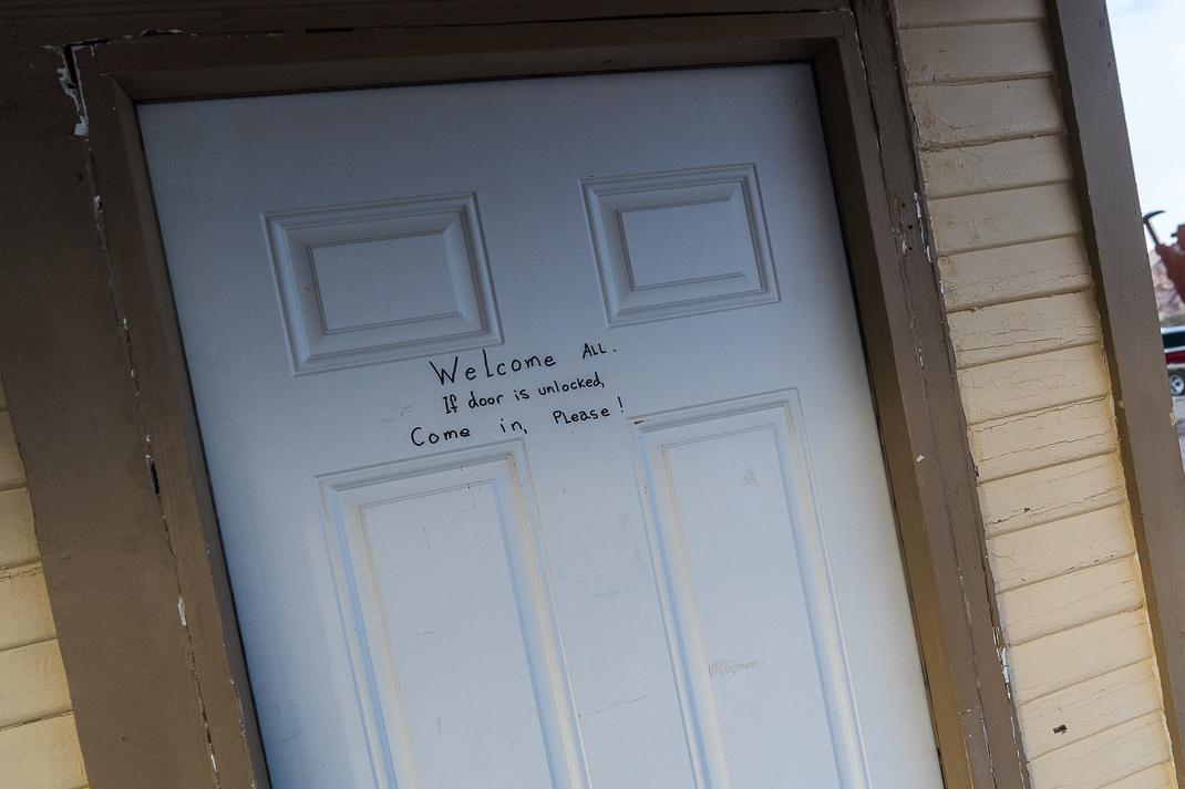 Rhyolite Ghost Town Welcome Door
