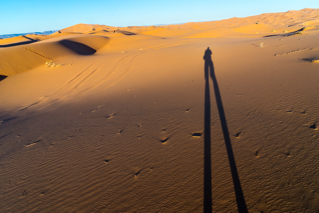 Sahara Desert Tour Sunrise Shadow