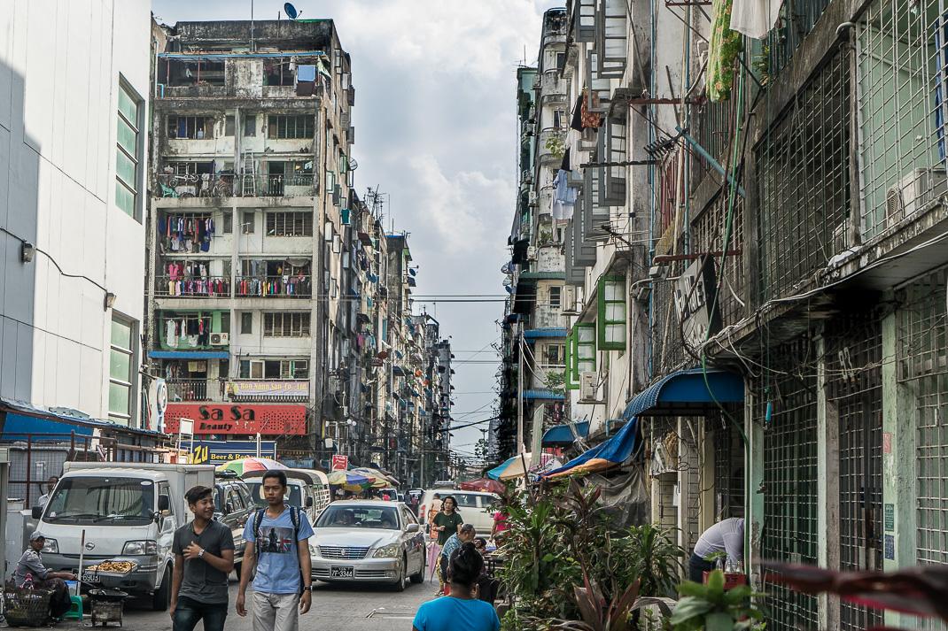 Yangon Downtown Tall Buildings