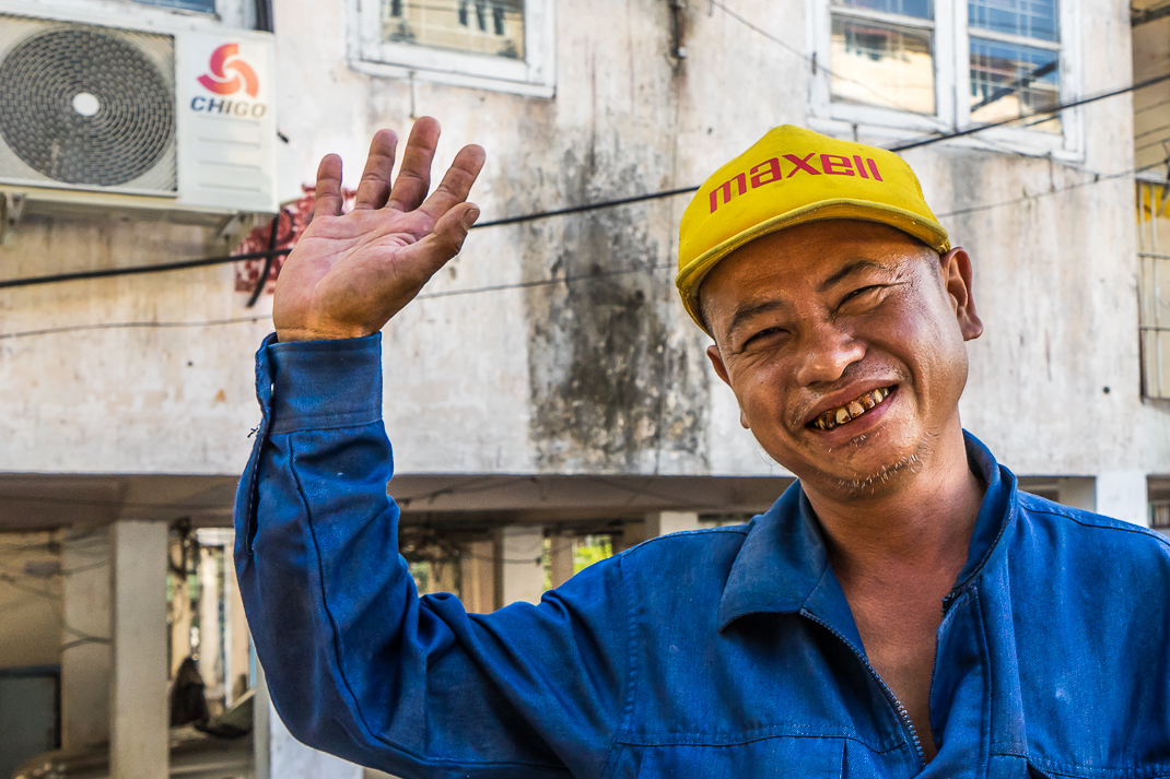 Burmese Independence Day Man Smiling