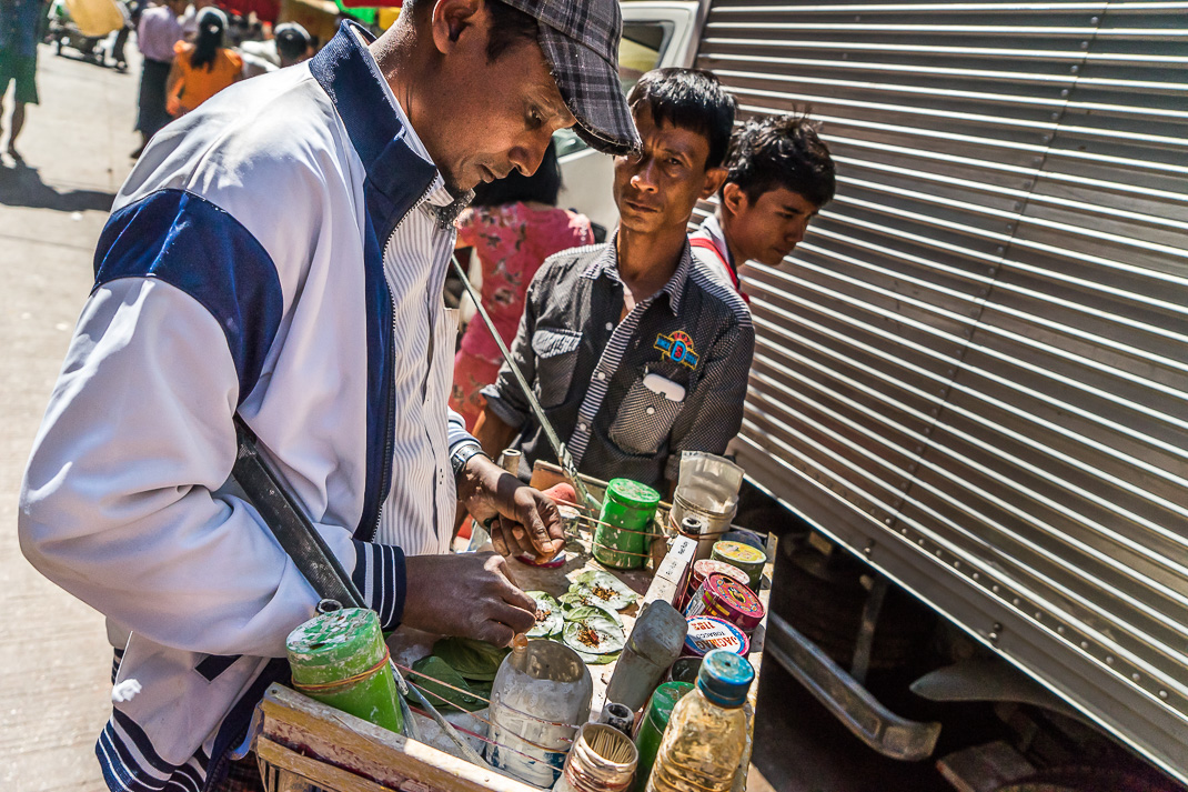 Yangon Streets Cherrot Vendor