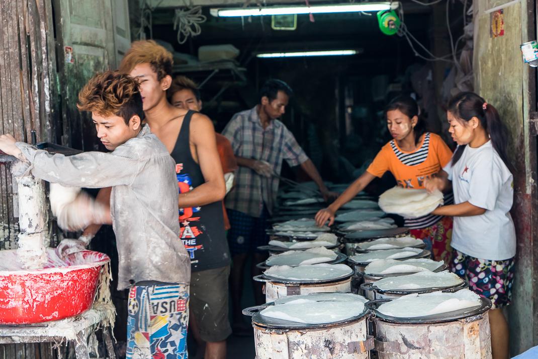 Yangon Street Market Crepes