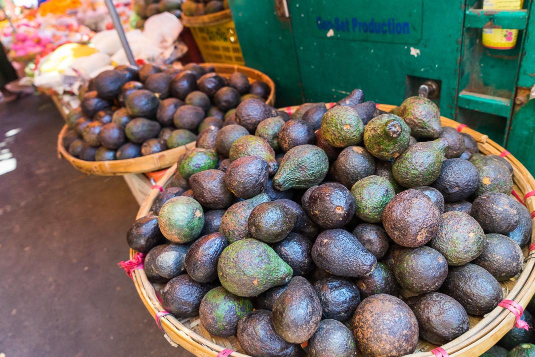 Yangon Street Market Avocados